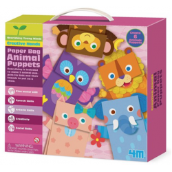 4m animal paper bag puppets